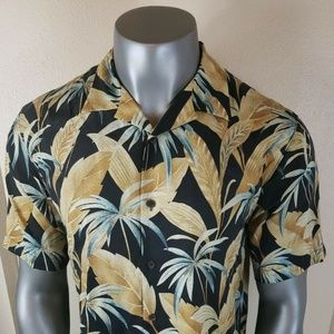 Tommy Bahama Hawaiian Shirt Silk Floral Large